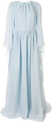 Ingie Paris Long-Sleeved Draped Dress