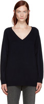 Alexander Wang Navy Deep V-neck Sweater