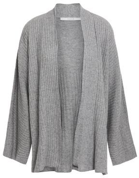 Vince Ribbed Wool And Cashmere-blend Cardigan