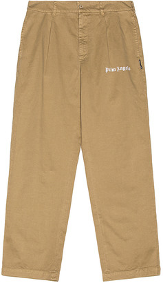 Palm Angels Classic Pants in Brown Rice & Brown Rice   FWRD