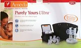 Ameda Purely Yours Ultra Double Electric Breast Pump with Car Adaptor & 16 Acessories by