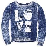 Pinc Premium Girls' Love Denim Look Marled Sweater - Big Kid