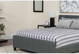 Octavia Tufted King Upholstered Platform Bed with Mattress Winston Porter