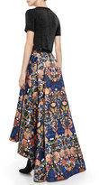 Alice + Olivia Cohe Asymmetric Printed Skirt
