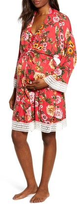 Angel Maternity Nursing/Maternity Nightgown, Robe & Baby Wrap