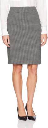 Nine West Women's Mini Windowpane Slim Skirt