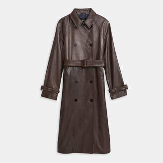 Theory Soft Leather Classic Trench