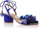 Aquazzura Tropicana Appliquéd Suede Sandals