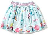 Joules Little Girls 3-6 Myla Mermaid-Print Woven Skirt