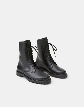Lafayette 148 New York Leather Finley Combat Boot