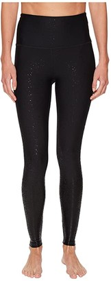 Beyond Yoga Alloy Ombre High Waisted Midi Leggings (Black Foil Speckle) Women's Casual Pants