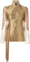 Rick Owens wrap jacket - women - Silk/Cotton/Lurex/Virgin Wool - 40