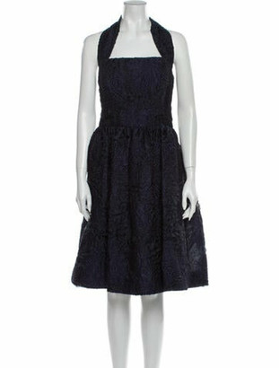 Oscar de la Renta 2013 Midi Length Dress Blue
