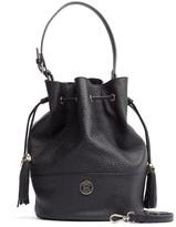 Tommy Hilfiger Logo Leather Bucket Bag