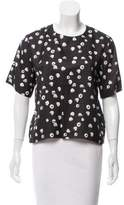 Band Of Outsiders Printed Silk-Blend Top