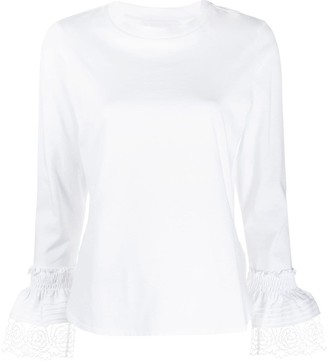See by Chloe Lace Cuff Cotton Top