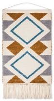 "Hand Woven Diamond Pattern Wall Tapestry Blue/Gold - (28""x44"")"