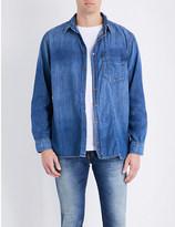 Nudie Jeans Calle skewed denim (Blue) shirt