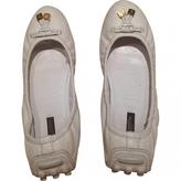 Louis Vuitton Ecru Leather Flats