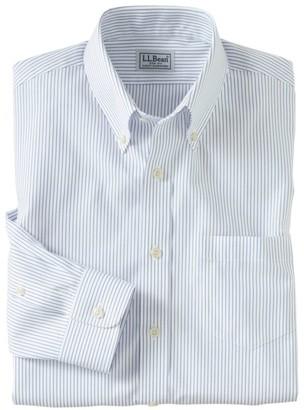 L.L. Bean L.L.Bean Men's Wrinkle-Free Pinpoint Oxford Cloth Shirt, Slim Fit Stripe