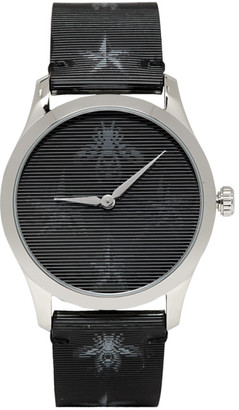 Gucci Silver Hologram Bee G-Timeless Watch