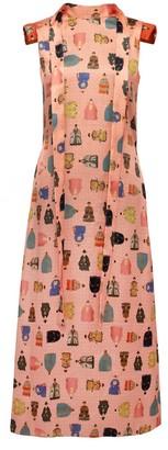 Lake Studio Worrier Printed Midi Dress