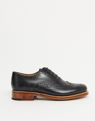 Grenson Rose leather brogues in black