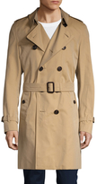 Burberry Spread Collar Belted Trench Coat