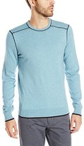 Agave Men's Wilson Contrast Stitch Long Sleeve Sweater