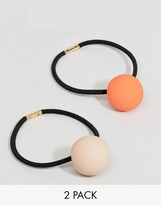 Asos Pack of 2 Matte Ball Hair Ties