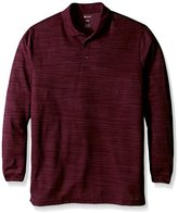 Haggar Men's Big-Tall Long Sleeve Polyester Knit Polo
