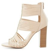 Charlotte Russe Strappy Three-Piece Sandals