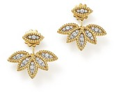 Roberto Coin 18K White and Yellow Gold New Barocco Diamond Earrings