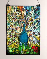 Dale Tiffany Tiffany Peacock Window Panel