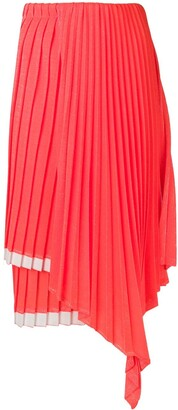 Circus Hotel Layered Pleated Skirt