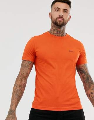 Boss Athleisure BOSS Athleisure front and back logo t-shirt in orange