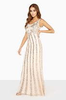 Thumbnail for your product : Little Mistress Nude Sequin Maxi Dress