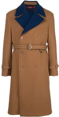 Sies Marjan Emerson two-tone coat