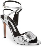 Veronica Beard Shae Leather Stiletto Heel Sandal