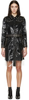 Saint Laurent Transparent & Black Rain Coat
