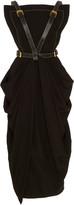 Proenza Schouler Buckle-Detailed Midi Apron Dress