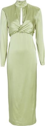 MATÉRIEL Silk Wrap Midi Dress