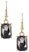 Natasha Accessories Faceted Rectangle Stone Drop Earrings