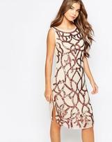 True Decadence Swirl Sequin Shift Dress