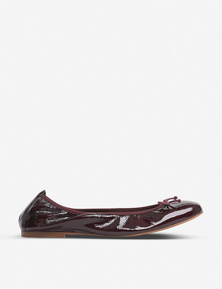 LK Bennett Trilly patent leather ballerina flats