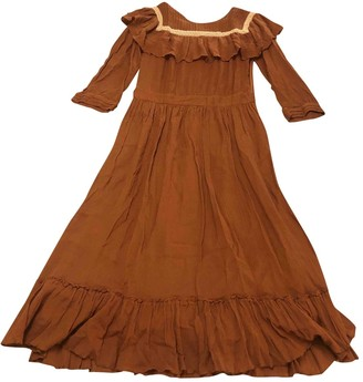 Masscob Brown Cotton Dress for Women