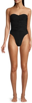 Norma Kamali Marissa Slinky Strapless One-Piece Swimsuit