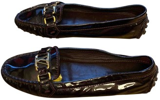 Louis Vuitton Brown Patent leather Flats