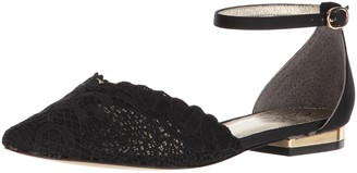 Adrianna Papell Women's TRALA Mary Jane Flat Black attalie lace 6.5 M US