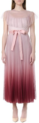 RED Valentino Degrade Effect Tulle Lace Dress
